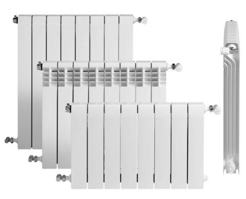 Radiador de aluminio para calefacción. Baxi roca dubal 60 de 3 elementos